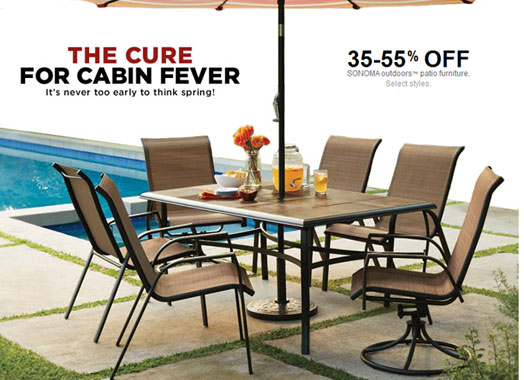 Kohls Coupons 30 Sonoma Outdoor Patio Furniture