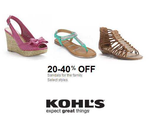 kohl's coupons 40% off