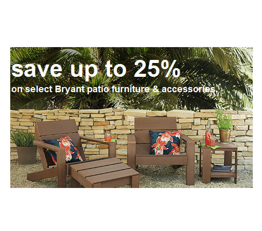 25\% off discount on select patio furniture
